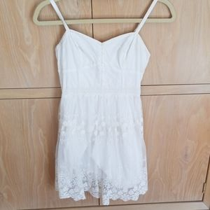 American Eagle Off white  dress w lace overlay XS
